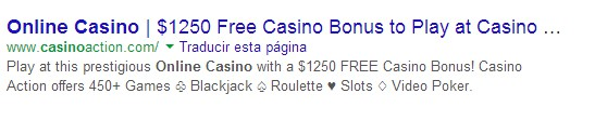 description casino online