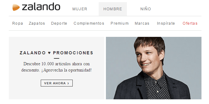 click to action zalando