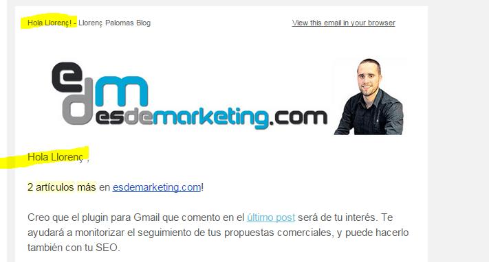 personalizacion email