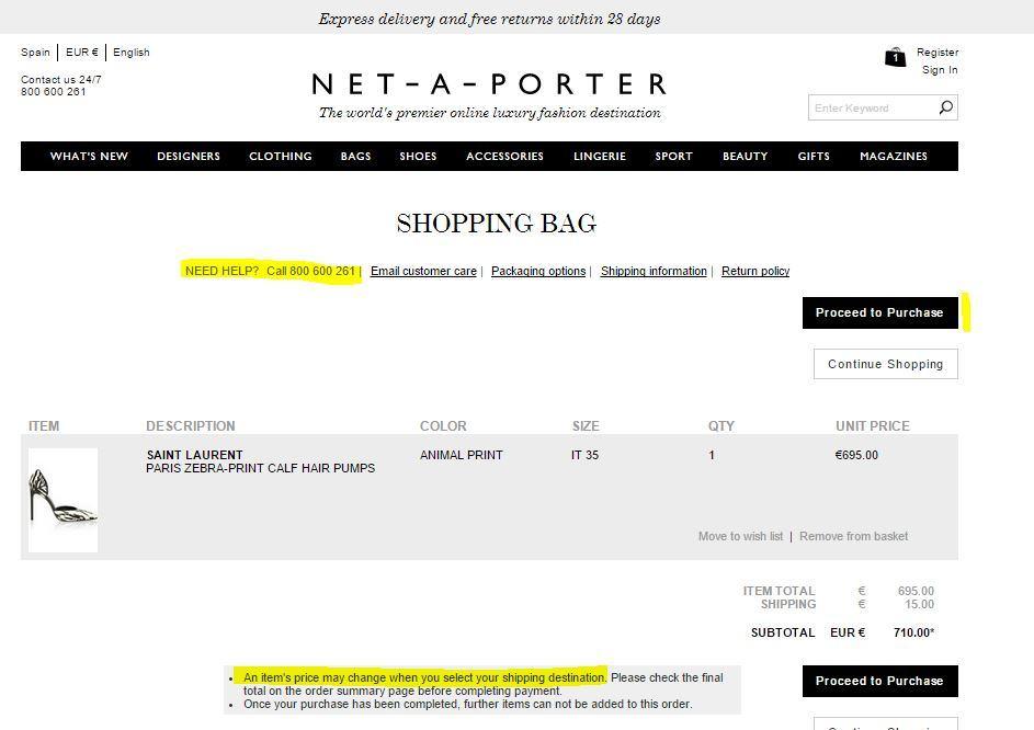 checkout netaporter