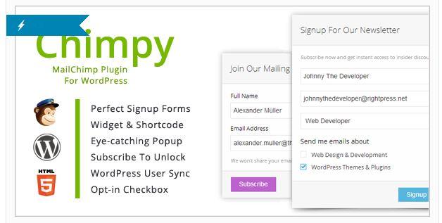 plugin suscripción mailchimp