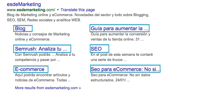 Lo que deberías saber sobre los Google Sitelinks