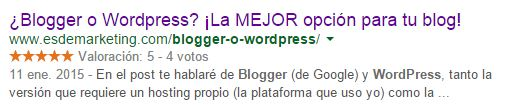 snippet blogger wordpress