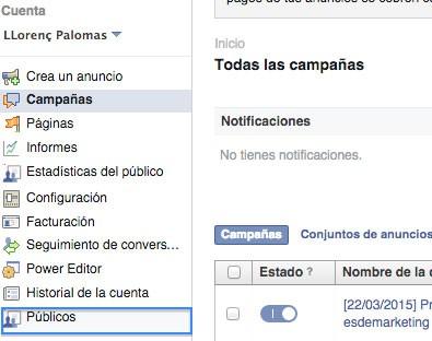 públicos facebook