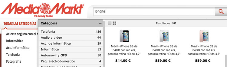 buscador MEdiaMarkt