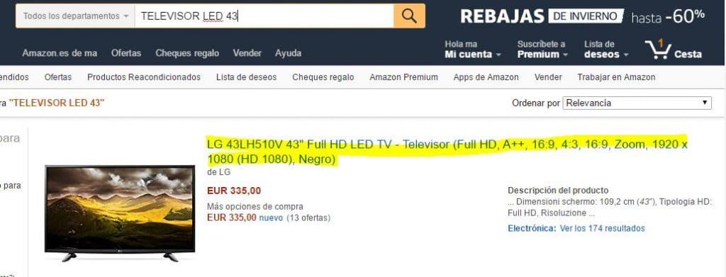 NOMBRE producto SEO Amazon