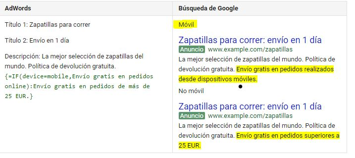 IF adwords google