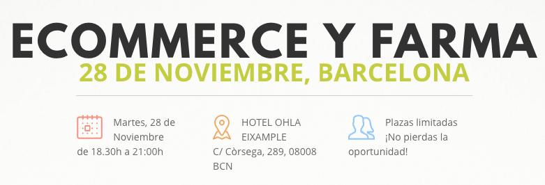 Jornada eCommerce y FARMA: 28 de Noviembre en Barcelona